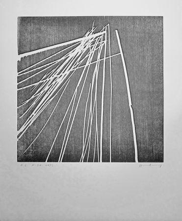 Incisione Su Legno Hartung - H 1973-21