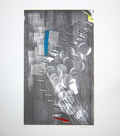 Incisione Su Legno Hartung - H 1973-3