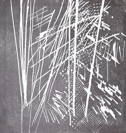 Incisione Su Legno Hartung - H 1973-9