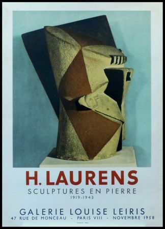 Manifesti Laurens - H. LAURENS - GALERIE LOUISE LEIRIS SCULPTURES EN PIERRE