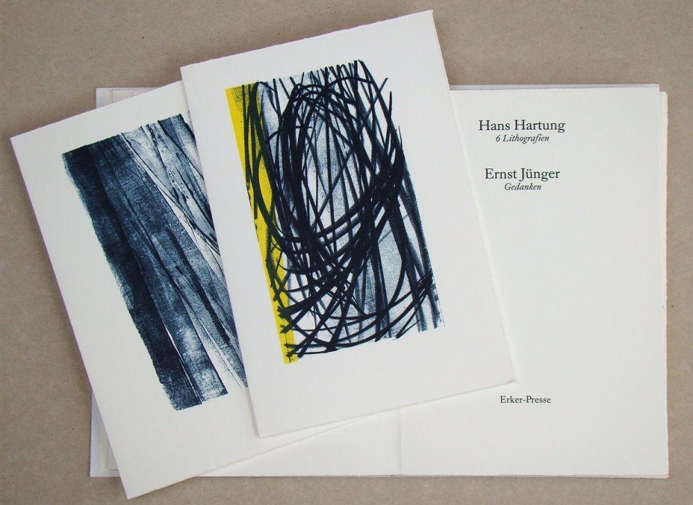 Libro Illustrato Hartung - Hans Hartung 6 Lithografien & Ernst Jünger Gedanken