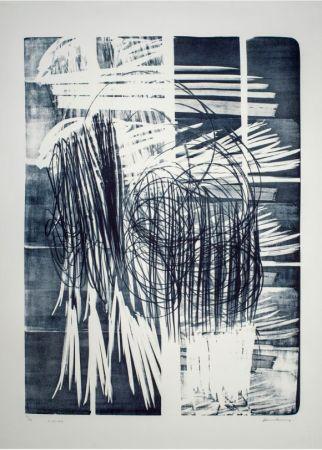 Non Tecnico Hartung - Hartung Hans (1904-1989)  L-16B-1974  Lithographie en noir