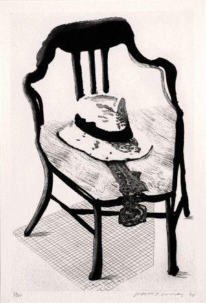 Acquaforte E Acquatinta Hockney - Hat On Chair, From Geldzahler Portfolio