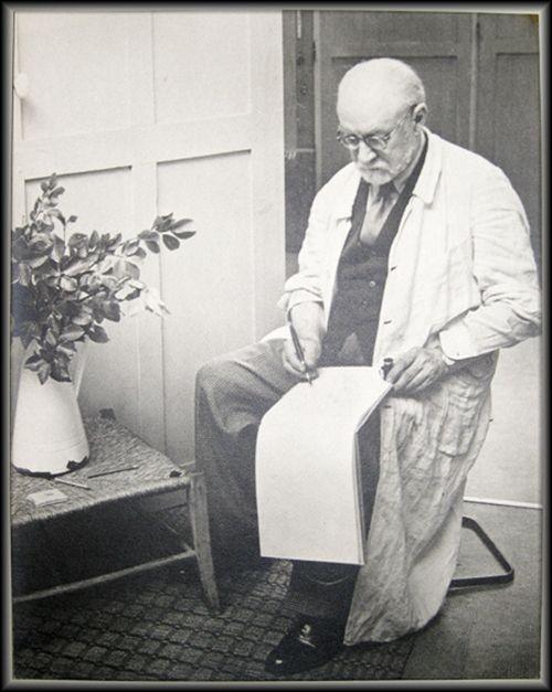 Fotografie Matisse - Henri Matisse Sketching