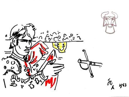 Litografia Cocteau - Hero