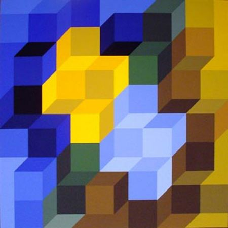 Serigrafia Vasarely - Hexagon 8