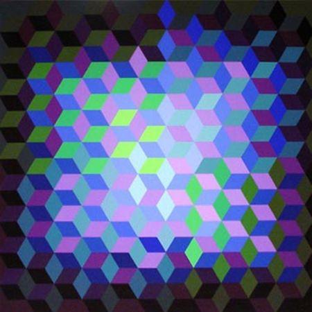 Serigrafia Vasarely - Hexagon VII