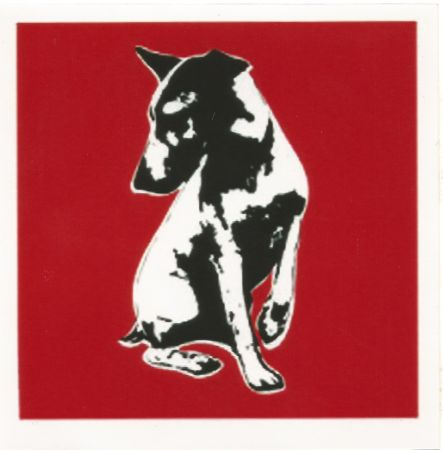 Serigrafia Blek Le Rat - His Master's Voiceless (Red)