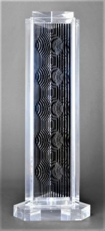 Multiplo Vasarely - HOLLD (Moire tower)