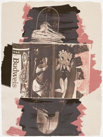 Litografia Rauschenberg - Hollywood Sphinx, from Illegal Tender L.A.