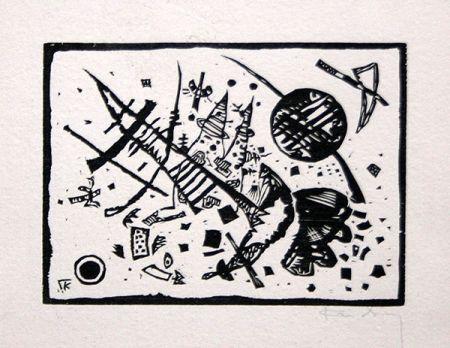Incisione Su Legno Kandinsky - Holzschnitt für die Ganymed-Mappe (from Der Dritten Ganymed-Mappe)