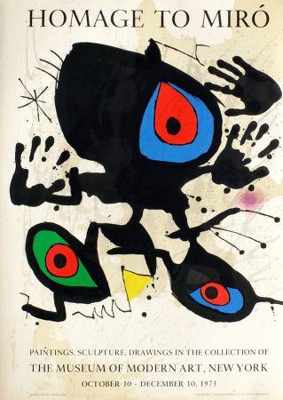 Non Tecnico Miró - HOMAGE TO MIRO. Expo au MoMA de New York. 1973. Affiche originale.