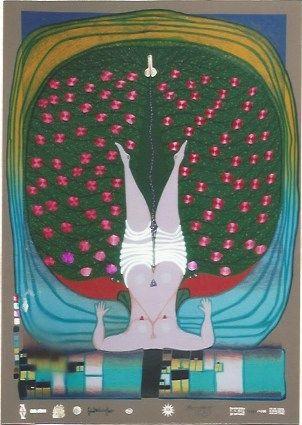 Serigrafia Hundertwasser - Homage to Schroeder-Sonnenstern