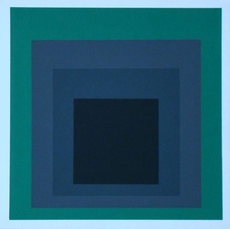 Serigrafia Albers - Homage to the Square - Grisaille and Patina, 1965