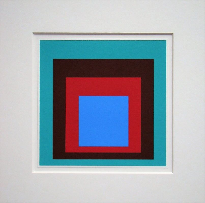 Serigrafia Albers - Homage to the Square - Protected Blue,1957