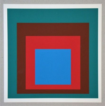 Serigrafia Albers - Homage to the Square - Protected Blue - 1957