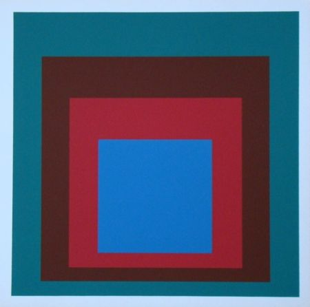 Serigrafia Albers - Homage to the Square - Protected Blue, 1957