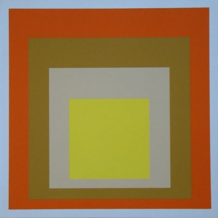 Serigrafia Albers - Homage to the Square - Yes Sir, 1955