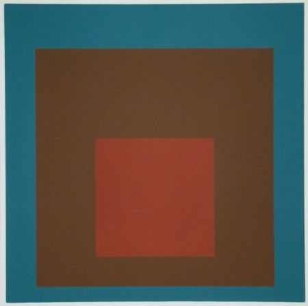 Serigrafia Albers - Homage to the Square at night, 1958