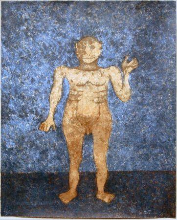 Serigrafia Tamayo - Hombre En Ocre