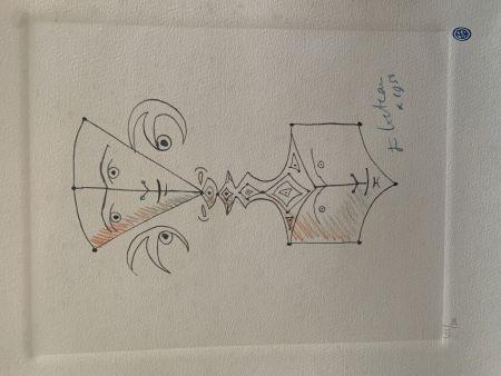 Litografia Cocteau - Hommage
