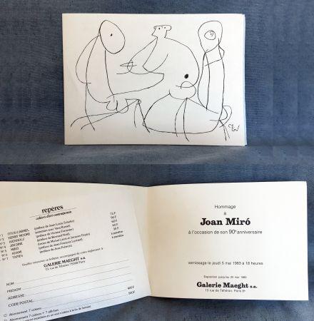 Non Tecnico Miró - HOMMAGE À JOAN MIRO à l'occasion de son 90e anniversaire (1983)