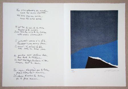 Litografia Santomaso - Hommage à Jean Cassou, 1970