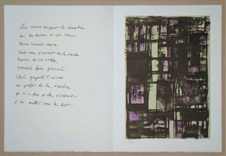 Litografia Vieira Da Silva - Hommage à Jean Cassou, 1975