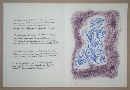 Litografia Masson - Hommage à Jean Cassou, 1978