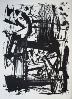 Litografia Vedova - Hommage à Joan Prats