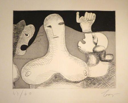 Incisione Baj - Hommage à Le Corbusier