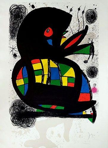Litografia Miró - Hommage à Maeght