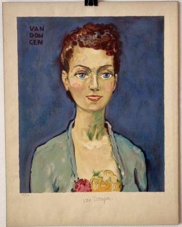 Litografia Van Dongen - Hommage à Marie-Claire- Circa 1950