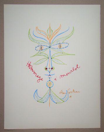 Litografia Cocteau - Hommage à Mourlot
