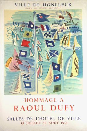 Litografia Dufy - Hommage à Raoul Dufy  Ville de Honfleur