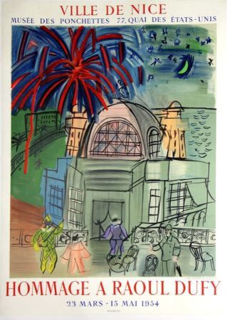 Litografia Dufy - Hommage à Raoul Dufy  Ville de Nice
