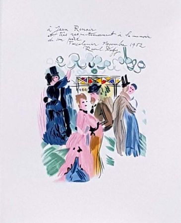 Litografia Dufy - Hommage à Renoir