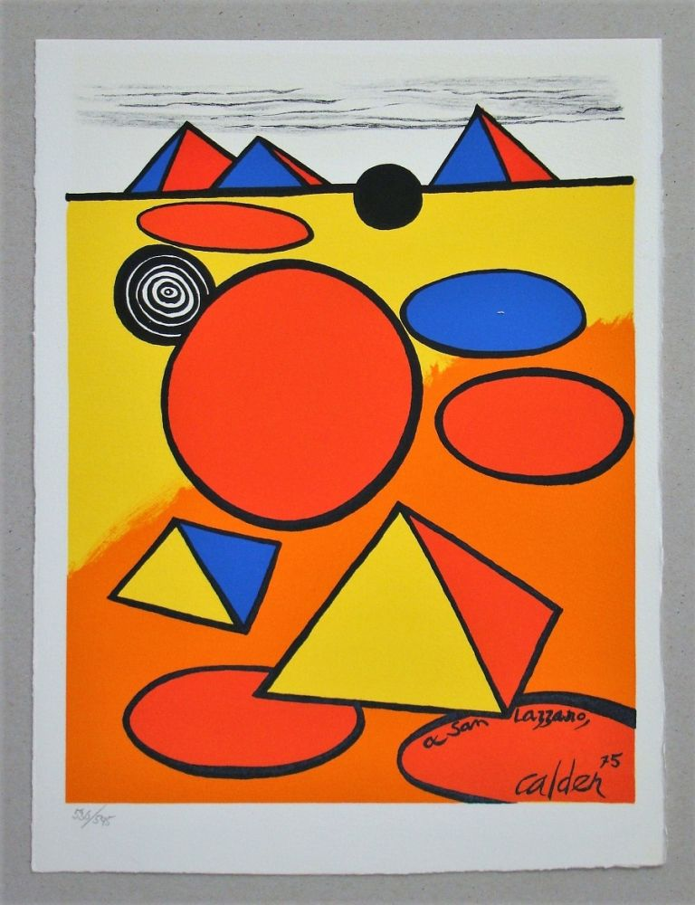 Litografia Calder - Hommage à San Lazzaro