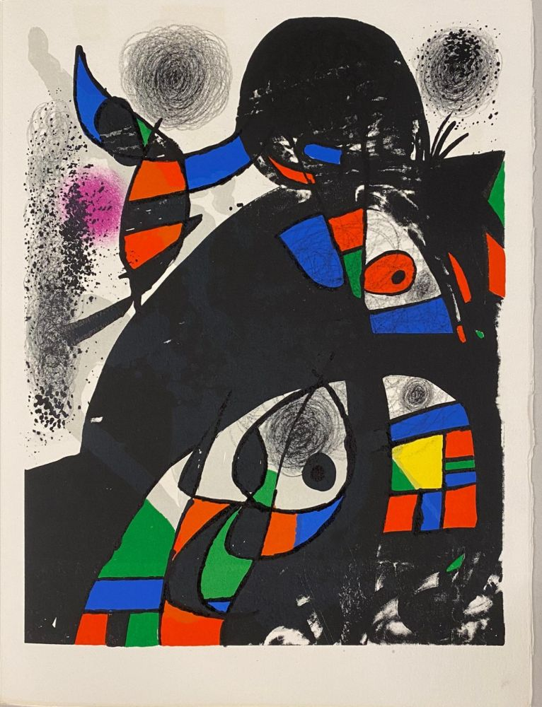 Litografia Miró - Hommage à San Lazzaro