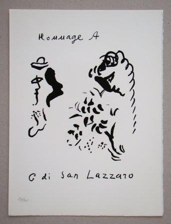 Litografia Chagall - Hommage à San Lazzaro