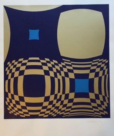 Serigrafia Vasarely - Hommage a Bartók