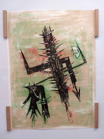 Litografia Lam - Hommage a Picasso