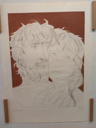 Litografia Manzu - Hommage a Picasso