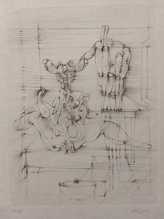 Litografia Bellmer - Hommage a Picasso