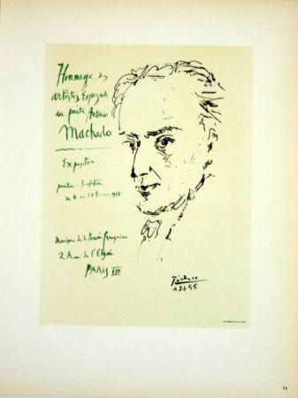 Litografia Picasso (After) - Hommage au Poete  Antonio Marchado