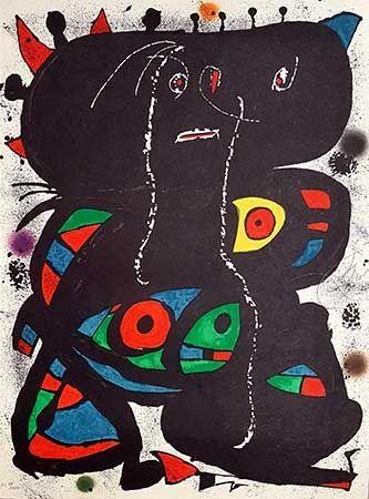 Litografia Miró - Hommage aux prix Nobel