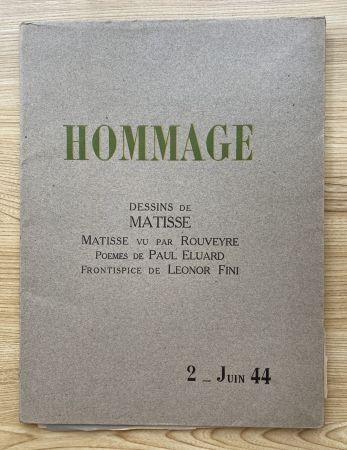 Fotografie Matisse - Hommage, Dessins de Matisse (