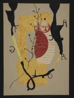 Litografia Texier - Hommage garcia lorca