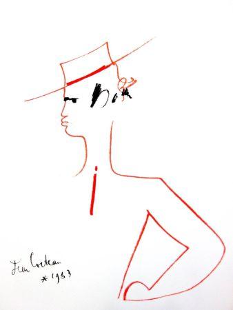 Litografia Cocteau - Homme au Chapeau