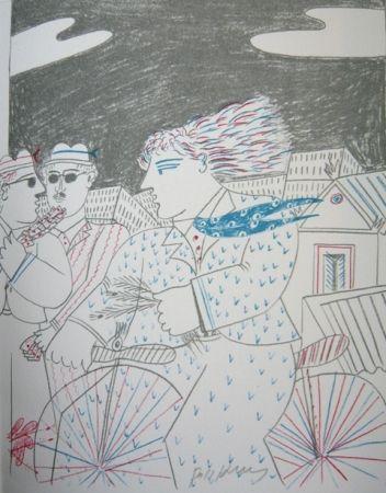 Litografia Fassianos - Homme bleu